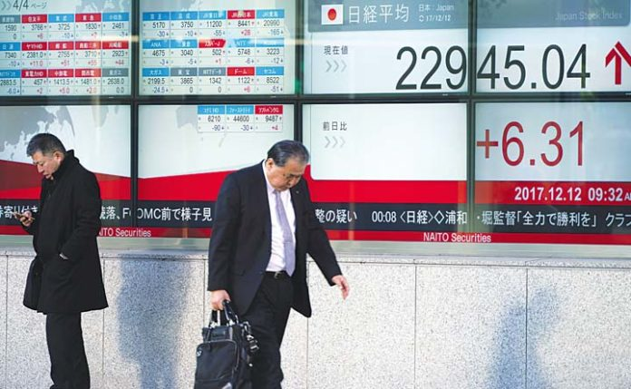 Shares flat, Fed hike expectations underpin dollar