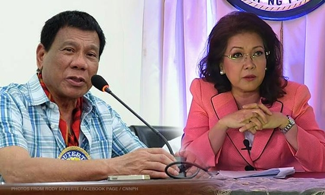 It's now a Duterte-Sereno face-off