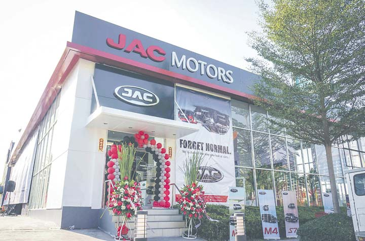 Jac motors introduces lineup of passenger vehicles for Motoring technical training institute