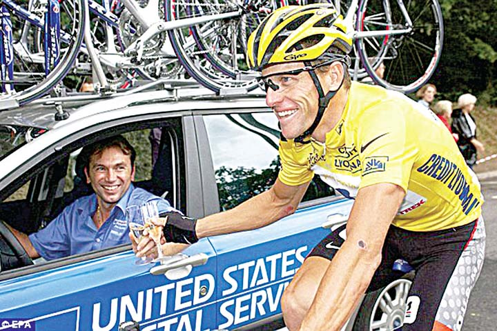 7cd16e838 In Photo  Lance Armstrong s former team manager Johan Bruyneel gets a stiff  penalty for his role in a doping program that helped Armstrong win the Tour  de ...