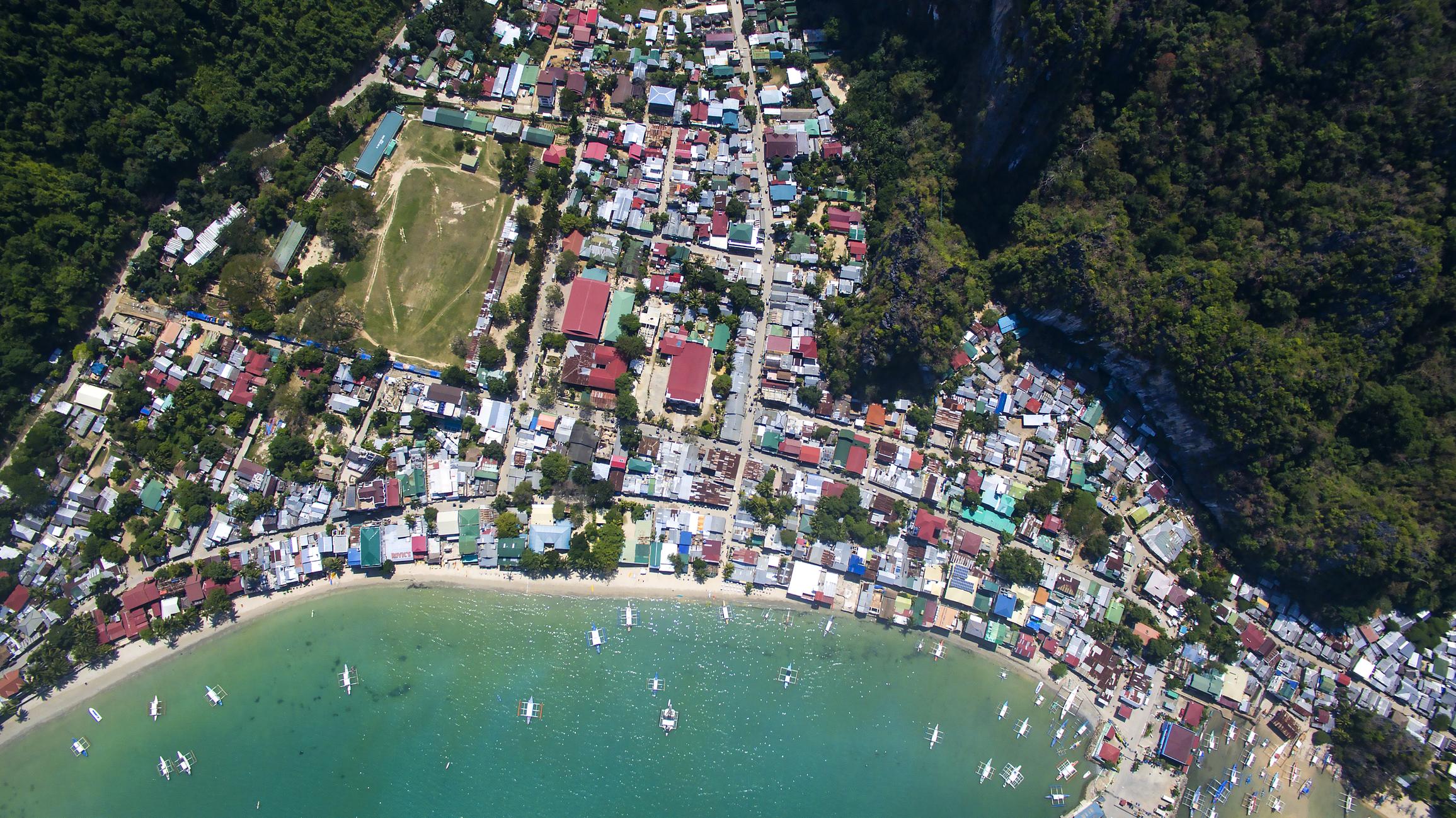 The village of El Nido Palawan Island Philippines