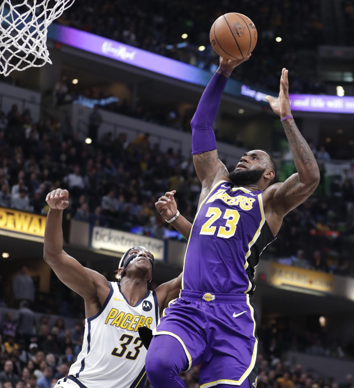 6db0e3be4 Pacers  3-point flurry buries Lakers in James s worst defeat ...