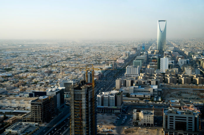 View Of Riyadh And Kingdom Tower From Faisaliah Tower