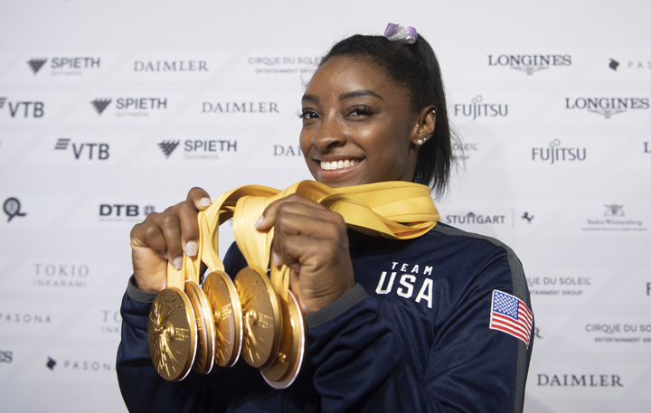 Biles: Face of Tokyo 2020 Olympics - The Associated Press