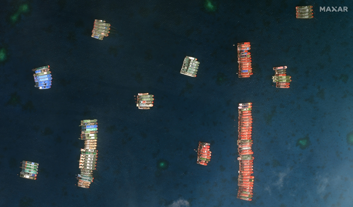Bulk of Chinese ships remain in reef, some disperse to other areas of WPS